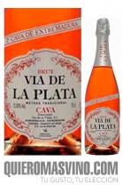 Cava Vía de la Plata Brut Rosé, Rosado de Extremadura