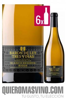 Barón de Ley 3 Viñas Blanco Reserva 2014 CAJA 6 BOTELLAS