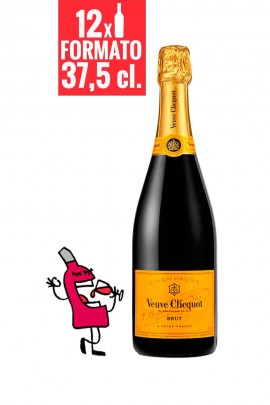 Veuve Clicquot Brut Yellow Label 37,5 cl. CAJA DE 12 BOTELLAS
