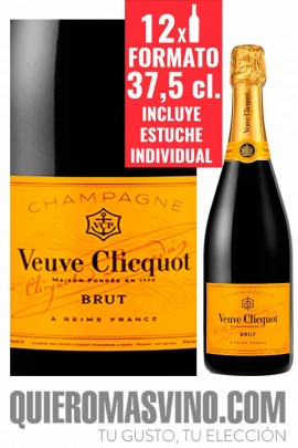 Veuve Clicquot Brut Yellow Label 37,5 cl. Estuchado CAJA DE 12 BOTELLAS