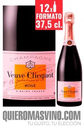 Veuve Clicquot Brut Rosé 37,5 cl. CAJA 12 BOTELLAS