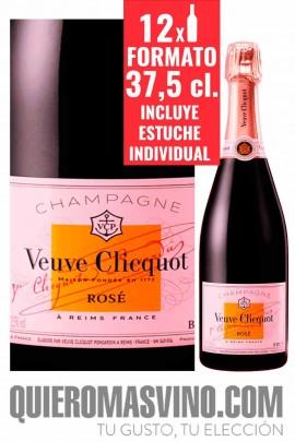 Veuve Clicquot Brut Rosé 37,5 cl. Estuchado CAJA 12 BOTELLAS